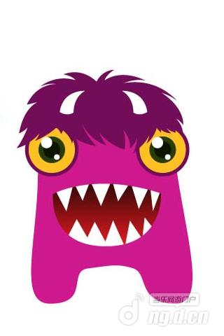 大眼怪物简笔画